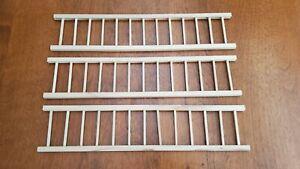 Dollhouse Miniature Porch or Fence Railing x3 Pieces Decks Gardens 1:12 Scale