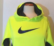 Youth Neon Volt Nike Therma Fit Hoodie Youth Sz L Women's Sz S Swoosh Logo