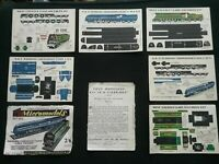 8 VINTAGE MODEL RAILWAY SHEETS (SEE PHOTO'S)