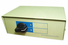 Manual VGA SWITCH BOX Metal Casing Beige High Quality Robust Construction New