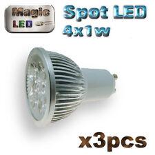 858/3# ampoule à LED 4 x1w   GU10 blanc chaud 3pcs