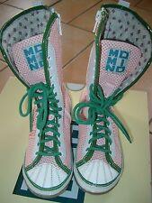 (Z68) Leichte MOMINO Girls Schuhe Stiefel zum Schnüren und Reißverschluß gr.28