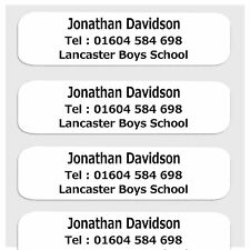 25 Pre-Cut Iron-On School Name Tapes Labels Tags - 3 Line Layout
