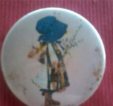 HOLLY HOBBIE PINS (BAMBINA DI PROFILO) SPILLA ANNI `70