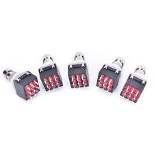 5 pcs 3PDT 9-Pin Guitar Effects Stomp Switch Pedal Box Foot Metal True Bypass