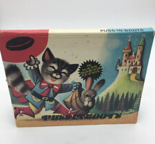 Vintage Puss in Boots All Action Treasure Hour Pop Up Book By V. Kubasta 1982