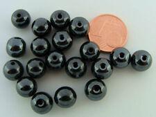 10 PERLES BICONE RESSORT métal NOIR HEMATITE 10mm DIY Bijoux déco MN01