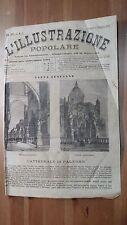 1873 Illustrazione Popolare: Veduta della Cattedrale di Palermo Portico Or e Mer
