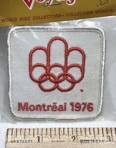 NIP Vintage 1976 Montreal Olympics Canada White Embroidered Souvenir Patch