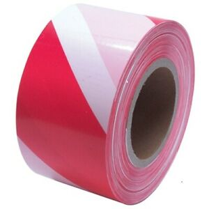 1 Roll Of 500 Metres Red&White Non Adhesive Barrier Hazard Warning Utility Tape