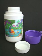 """Vintage Plastic Thermos  """"DISNEY'S WINNIE THE POOH""""  with lid and cup !"""