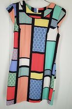 Hi There Karen Walker Dress size 4P Modernist Shift Dress colorful print