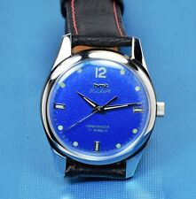 HMT Pilot, Blue, hand winding mechanical watch, STEEL HANDS