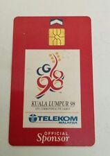 Malaysia TM Sponsor Commonwealth Games Phone Card with Sukom 98 Logo 电话卡