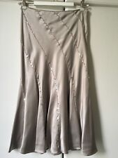 Jenny Packham taupe colour bias cut silk satin skirt with sequins & crystals