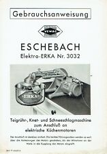 Eschebach Radeberg Prospekt Elektro Knetmaschine Erka Gebrauchsanweisung 1934