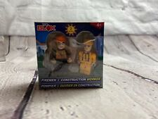 New Top Blox 2 Pack Fireman And Construction Worker. Works With Other Brands.