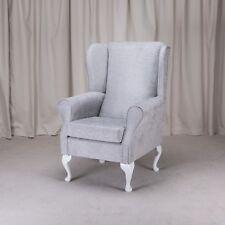 Wingback Fireside Armchair in Oleandro Silver - OLE1428