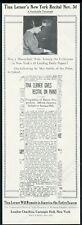 1914 Tina Lerner photo piano recital tour booking trade print ad