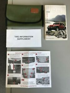 2011 Jeep Wrangler and Unlimited Owners Manual Plus More  - 4/pcs - Good