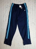 NWT Men's New Balance SNAP Button Gym Pants Workout RUNNING Size Med Blue