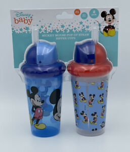 Disney Baby Mickey Mouse Pop-up Straw Sipper Cups
