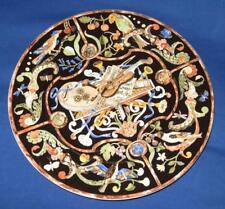 "Villeroy & Boch INTARSIA, Black w/ Musical Instruments, Round Chop Plate, 13"""