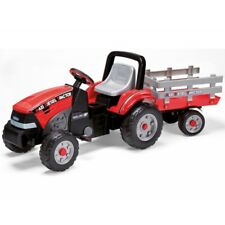 Kids Electric Ride On Maxi Diesel Tractor Chain Pedal Drive by Peg Perego