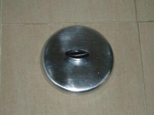 PAN LIDS x 3 - ALUMINIUM & GLASS - JOB LOT