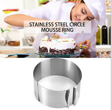 Metal Stainless Steel Adjustable Mousse Retractable Ring Circle Shape