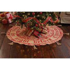 "Mud Pie Twas the Night Before Christmas Burlap Tree Skirt 58"" Round 4264234 New"
