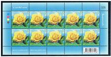 THAILAND 2016 Symbol of Love (Rose) F/S (5b x 10)