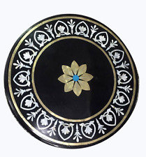 "24"" Semi Precious Stones Marble Side / End Table Top Home Decorative"
