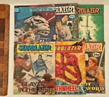 LOT OF 6 1980S VINTAGE STARBLAZER SCIENCE-FICTION COMICS DC THOMSON UK ALL EXC!