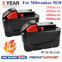 For Milwaukee M18 Li-Ion XC 2.5 4.0 6.0 9.0Ah Battery 48-11-1852 18V Cordless