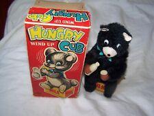Vintage Clockwork TN Toy Nomura Japan Wind Up Hungry Cub Boxed