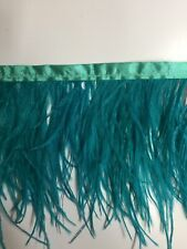 Ostrich Feather Fringe ,sold by yards ,6/7 inches lenght ,jade color