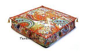"26"" Indian Square Handmade Home Décor Kantha Cushion Cover 100% Cotton Throws AU"