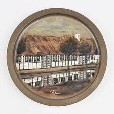 Nordby Gadekær Palm Samsø - Keramik Kunsthandwerk - bemalt - Fachwerkhaus