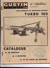 CUSTIN -Faucheuse rotative TURBO 165 Catalogue de montage, entretien et  pièces