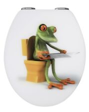 Wenko Frog Reading Soft Closing Toilet Seat 21758100