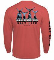 Salt Life Fish Tail Scenic Mens L/S Pocket Graphic T-Shirt - 2XL/XL/L/M  NWT