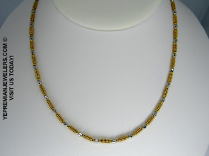 14K GOLD BEADED NECKLACE * ULTRA RARE * ESTATE PIECE * BEST OFFER SALE TODAY!!