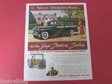 Willys Overland Motors Jeep Station Sedan Original Full page Advertisement Foote