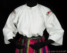 ANTIQUE Polish Linen Blouse ethnic embroidery folk costume regional dress POLAND