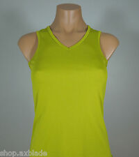 HIND Green Athletic V-Neck Tank Top size XS