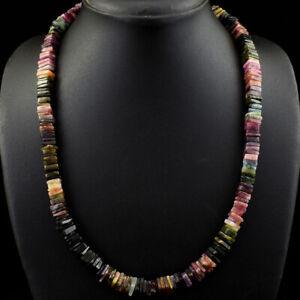 Exclusive 410.00 Cts Natural Watermelon Tourmaline Beads Necklace JK 35E276