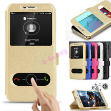 For Huawei Y3 Y5 Y6 Y7 2017 Luxury Magnetic PU Leather Stand Windows Case Cover