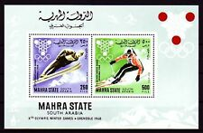 Aden Mahra 1967 ** Bl.4 A Olympische Spiele Winter Olympic Games