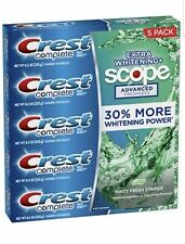 Crest Complete Extra Whitening + Scope Advanced Toothpaste 8.2oz (232g)- 5 Pack